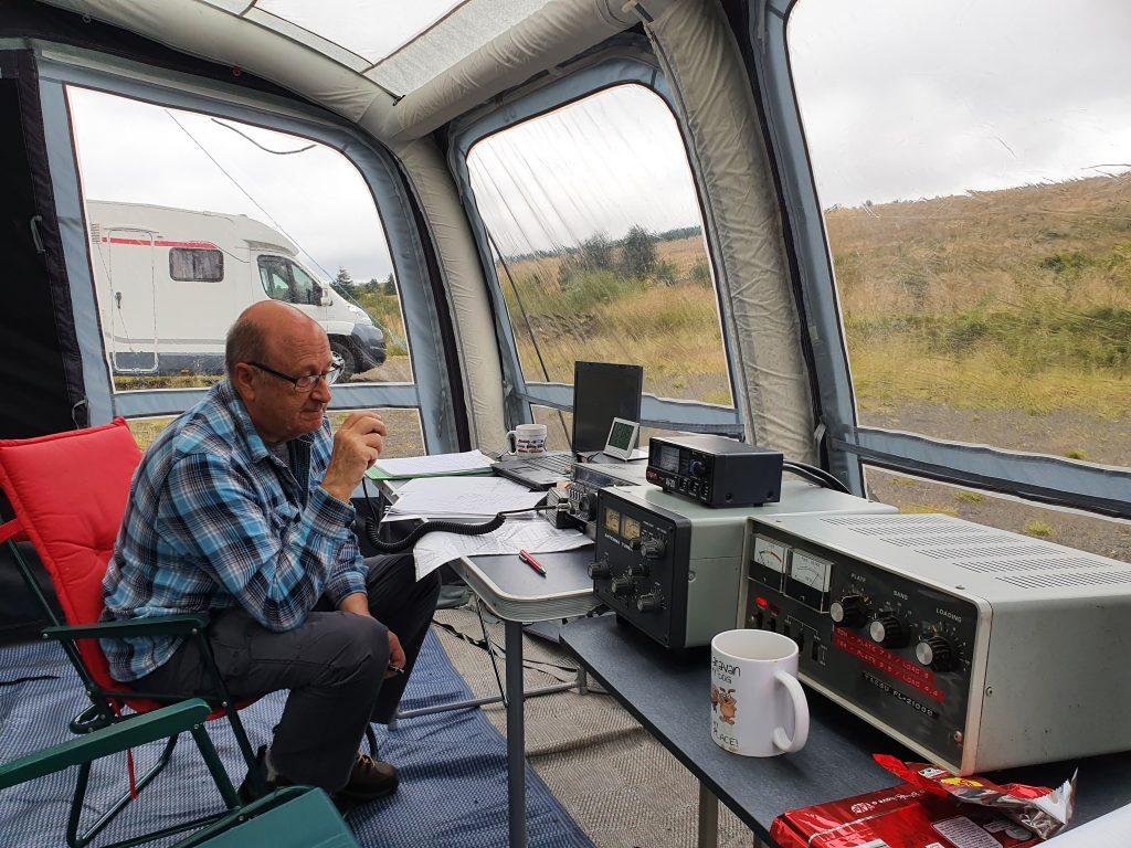 Dave S GM0KCN operating radios