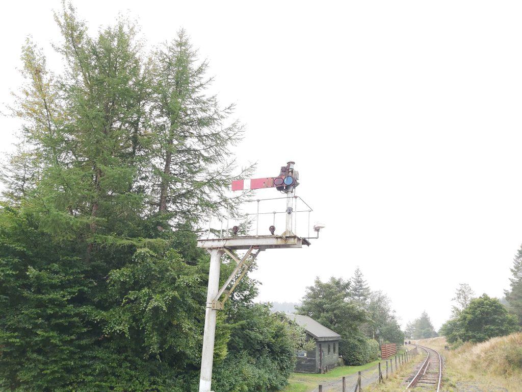Railway signal horizontal at red