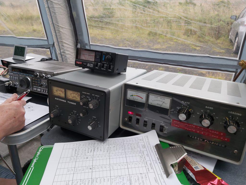 Kenwood TS-430S, Yaesu FC-902 tuner and Yaesu FL-2100B Amplifier